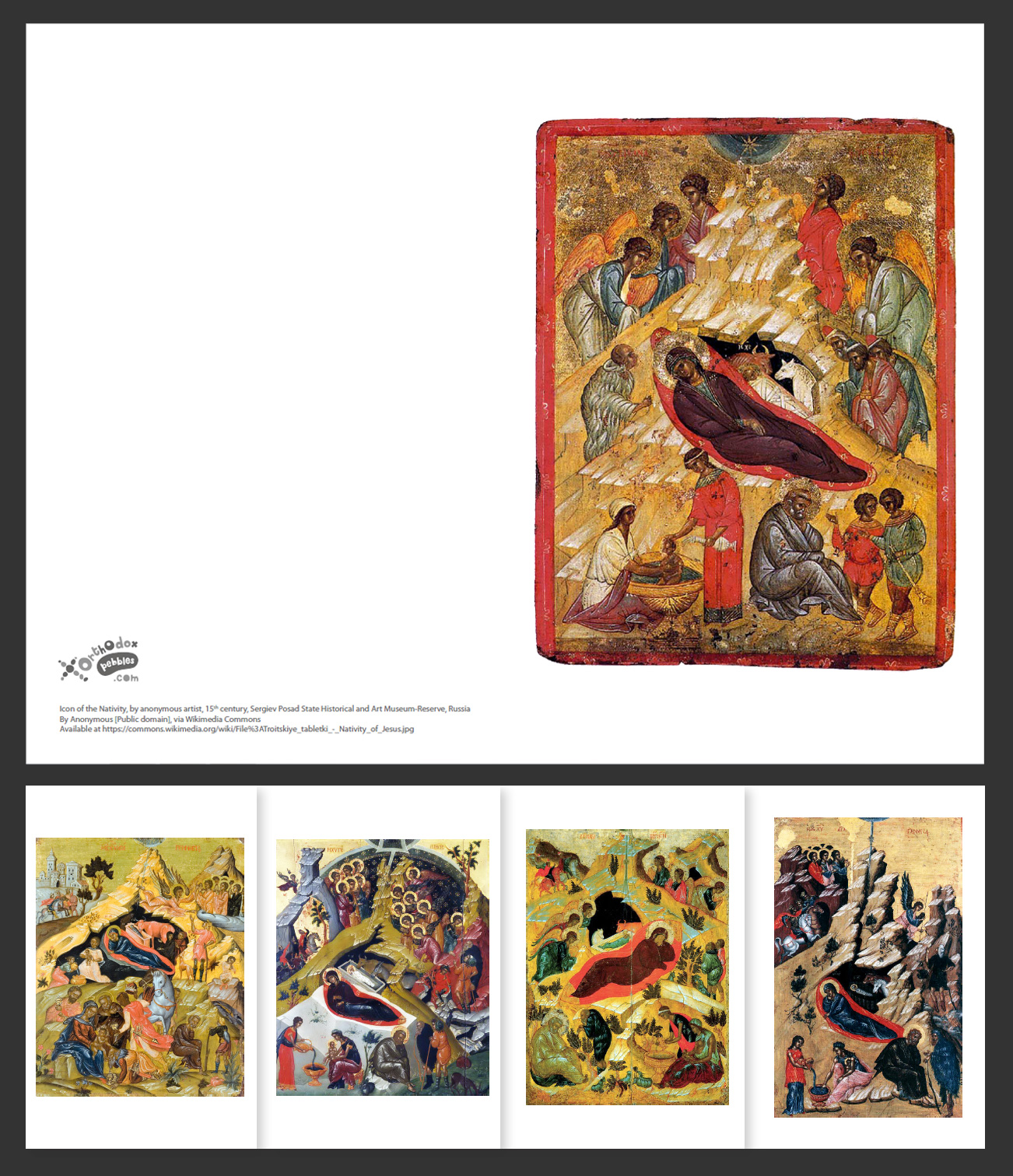 Diy Orthodox Christmas Cards Orthodox Pebbles